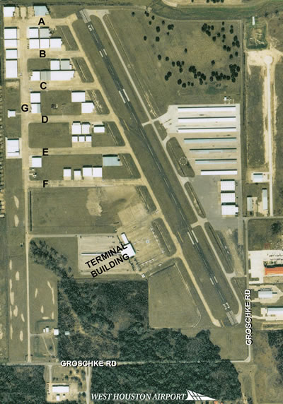 Aerial photo of West Houston Airport